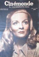 CINEMA MADELEINE SOLOGNE CHAPLIN BERGMAN POSTER PIN UP HAYWORTH CINEMONDE 1946