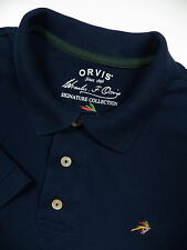 ORVIS MENS XL POLO SHIRT STYLISH BLUE SUPIMA FLY FISHING EMBROIDERED FLIES LOGO
