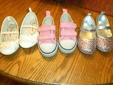 Baby Toddler Girl Shoes Lot of 3 Size 5 Ballet Sneakers