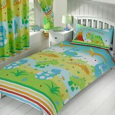 'ROAR LIKE A DINOSAUR' SINGLE DUVET COVER SET NEW