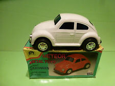 METEOR 910 VW VOLKSWAGEN KAFER BEETLE WHITE- FRICTION POWERED - EXCELLENT IN BOX