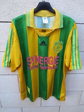 VINTAGE Maillot FC NANTES Adidas ancien supporter canaris collection shirt M