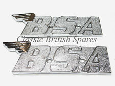 BSA Chrome Winged Gas Tank Badge Emblem Set 60-2568 1971-72 A65 A70 Fury OIF