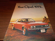 1972 Opel Deluxe Sales Catalog with GT and other models
