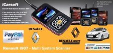 NEW - iCarsoft i907 Renault Fault Code Scanner /Reset /Diagnostics /Airbag /ABS