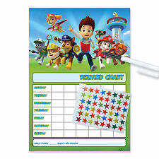 Paw Patrol Portrait Re-usable Reward Chart (including FREE Stickers and Pen)