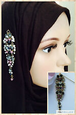 STUNNING UNIQUE LONG DROP PIN BROOCH HAT PIN FOR HIJAB SCARF COATS BAG