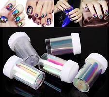 5 Colors Newest Broken Glass Foils Finger DIY Nail Art Stencil Decal Stickers