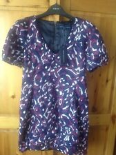 BNWT French Connection purple print dress size 16