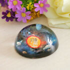 Crystal Paperweight Half Sphere Solar System Figurines Collectibls Ornament 80mm