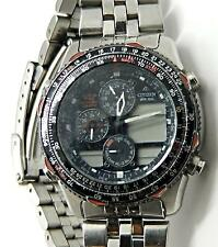 Citizen World Time Chronograph Digital REPAIR Watch C300-000214 6D2528