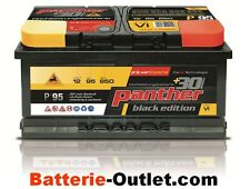 Autobatterie Starterbatterie Panther +30% 12V 95Ah 850A P+95T