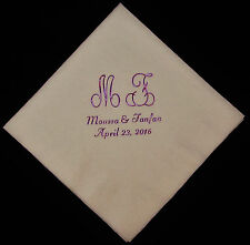 150 personalized monogram beverage napkins wedding napkins baby shower napkins