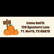 30 Return Address Labels - Pumpkin Patch Birthday Party - Pumpkin Patch Labels