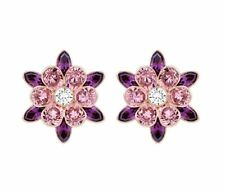 Swarovski Disney Cinderella Flower Pierced Earrings Crystal Authentic 5118311