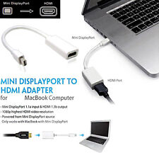Mini DisplayPort to Hdmi Plug and Play Cable Adapter for Apple MacBook Pro Air