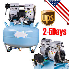 *USA* Portable Dental Medical Air Compressor Silent Noiseless Oil Free Oilless