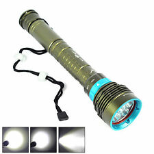 10000Lm Scuba Diving CREE XM-L L2 LED Flashlight Torch Waterproof Shock-proof