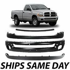 NEW Complete Steel Front Bumper Combo Kit For 2002-2005 Dodge Ram 1500 2500 3500