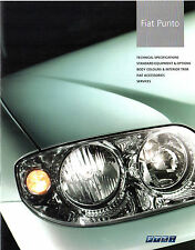 Fiat Punto 2003-2004 UK Market Specification Brochure HGT Sporting Eleganza