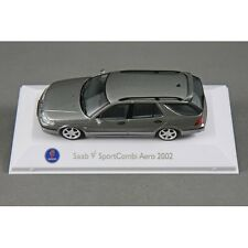 SAAB MUSEUM SAAB 9-5 SPORT COMBI/ESTATE 2002 in GREY 1/43 MODEL CAR