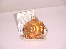 Old World Christmas Gold Snail ornament