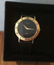 Auth Used GUCCI Luxury watch for Men 3000M Black Dial #5003 / Needs Battery