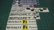 Renault Clio Megane twingo Track day General body decals Sticker Kit