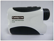 "Caddy Line golf laser rangefinder with ""pin-seeking locking device"" WHITE"