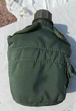 US Army USMC Soldiers Green Plastic Light Weight Canteen With Case, 2002 Date