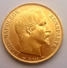 France 1852 Louis Napoleon 20 Francs Gold Coin,One Year Type!