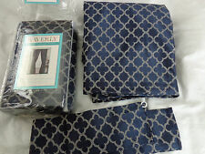 QTY 1 WAVERLY LINED CURTAIN PANELS FRAMEWORK BLUE NIP FRENCH COUNTRY LAST ONE