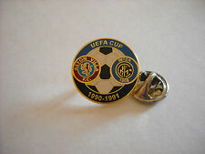 a1 ASTON VILLA - INTER cup uefa europa league 1991 spilla football calcio pins