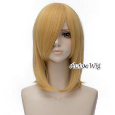 Howl's Moving Castle Howl Yellow Blonde Medium 45CM Anime Cosplay Wig + Wig Cap