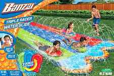 Slip N Slide Outdoor Inflatable Play Triple Water Slider Bounce Summer Fun Toy