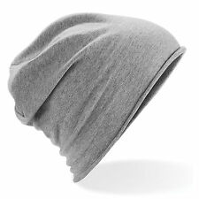 Unisex Fashion Beanie - Light Weight Jersey Slouch Style - Choose Colour
