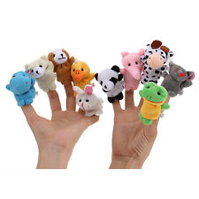 10xCute Soft Finger Doll Hand Puppet For Kid Children Learn By Playing Game Gift