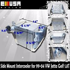 "Side Mount Intercooler FOR 99-04 VW Jetta Golf 2.5"" I/O  1.8T MK4"