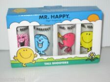MR MEN  LITTLE MISS ROGER HARGREAVES BOOK CHARACTERS BOXED SHOOTERS SHOT GLASSES