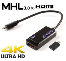 MHL 3.0 to 4K TV HDMI Cable Adapter for Sony XPERIA Z4 Z3 Z2 Samsung Galaxy S5