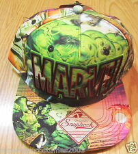 Avengers Age of Ultron Hulk Print All Over Adjustable Hat Brand New - GREEN