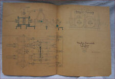 1867 Paris Universal Exhibition Steam Engine 30 HP 2 Cylinder Section Plan
