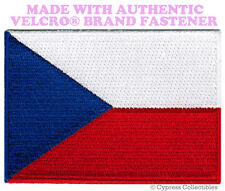 CZECH REPUBLIC NATIONAL FLAG PATCH Česká EMBROIDERED w/ VELCRO® Brand Fastener