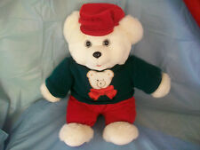 LARGE PLUSH STUFFED HOLLY BERRY BEAR TEDDY CHRISTMAS GIFT ANIMAL TOY COLLECTIBLE