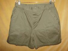 Details Size 18 womens olive green velcro button fasten casual dress shorts