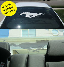 FORD MUSTANG REAR WINDOW PONY DECAL VIEW THRU VINYL 94-98 99-04 05-09 2010-2014