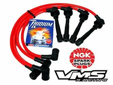 VMS 99-00 HONDA CIVIC SI 10.2MM 10.2 MM SPARK WIRES SET NGK IRIDIUM PLUGS RED