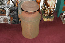 Antique Compton Dairy Metal Milk Can Container-Very Large-Country Decor-Rusted