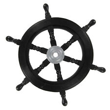 Nautical Maritime Queen Anne's Revenge Pirate Wooden Ships Wheel Home Decor