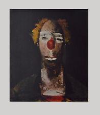 Joseph Kutter son impresiones artísticas póster imagen luz payaso presión con ziehharmonika 76x63 cm